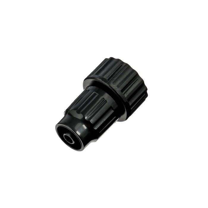 """Коннектор, внутренняя резьбф, 3/4"""" (19 мм) — 6 мм, пластик"""