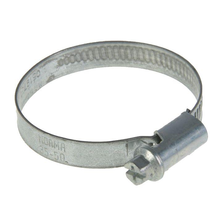 Хомут червячный NORMA, диаметр 35-50 мм, ширина ленты 9 мм, оцинкованный