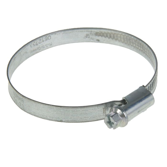 Хомут червячный NORMA, диаметр 50-70 мм, ширина ленты 9 мм, оцинкованный