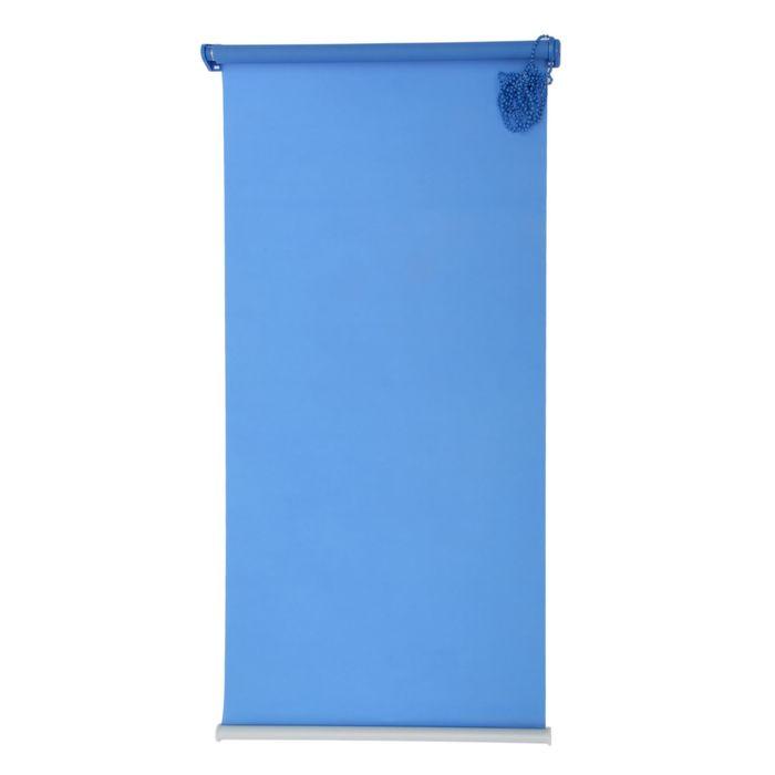 "Штора-ролет 140x160 см ""Комфортиссимо"", цвет синий"