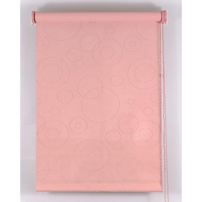 Рулонная штора Blackout 100х160 см, имитация замши «замша», цвет розовый