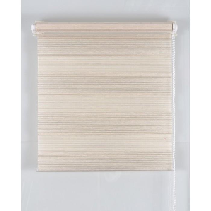 Рулонная штора «Зебра» 80х160 см, цвет белый