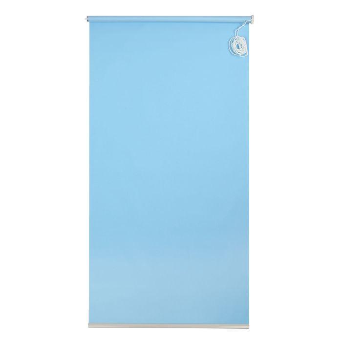 Штора рулонная 90х180 см, цвет голубой