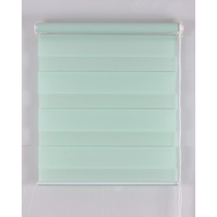 Рулонная штора «День и Ночь» 55х160 см, цвет светло-зеленый