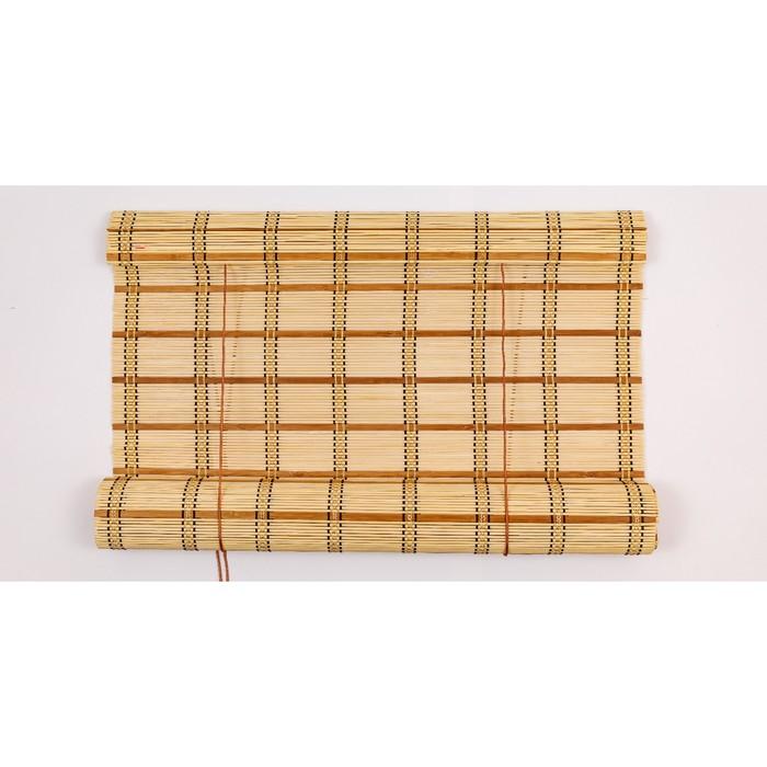 Бамбуковая рулонная штора 220х160 см, цвет 8002