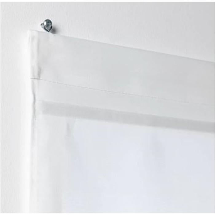 Римская штора РИНГБЛУММА, размер 100х160 см, цвет белый