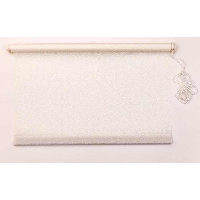 Рулонная штора «Дольче Вита» 120х160 см, цвет пломбир