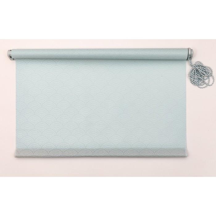 Рулонная штора «Дольче Вита» 120х160 см, цвет светлая лазурь