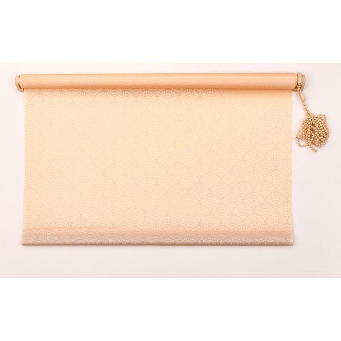 Рулонная штора «Дольче Вита» 120х160 см, цвет персиковый мусс