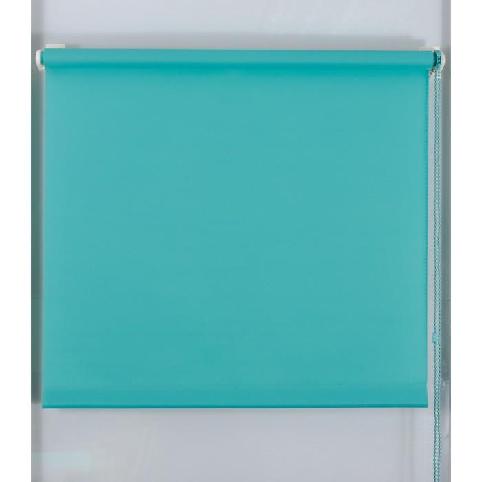 Рулонная штора «Простая MJ» 120х160 см, цвет морская волна