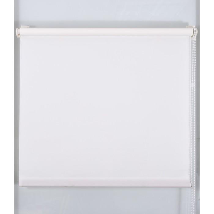 Рулонная штора «Простая MJ» 130х160 см, цвет белый