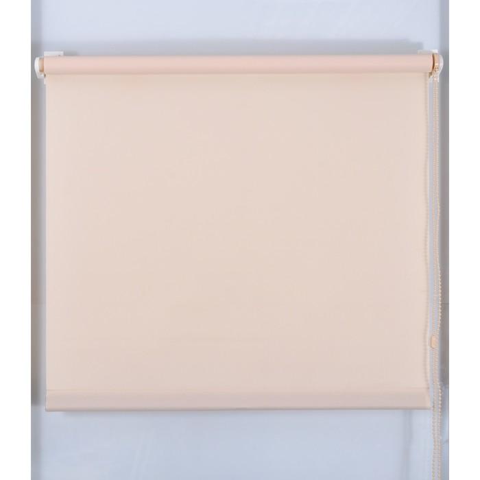 Рулонная штора «Простая MJ» 130х160 см, цвет персик