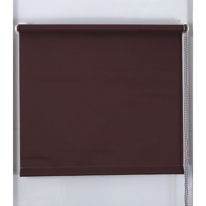 Рулонная штора «Простая MJ» 130х160 см, цвет шоколадный