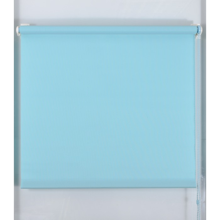 Рулонная штора «Простая MJ» 130х160 см, цвет голубой