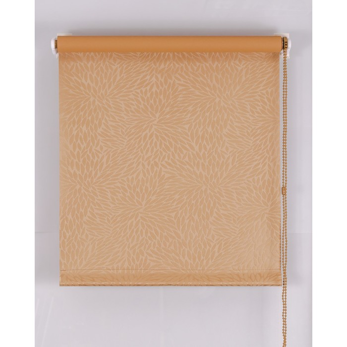 Рулонная штора Blackout 60х160 см, имитация жаккарда «подсолнух», цвет кофе с молоком