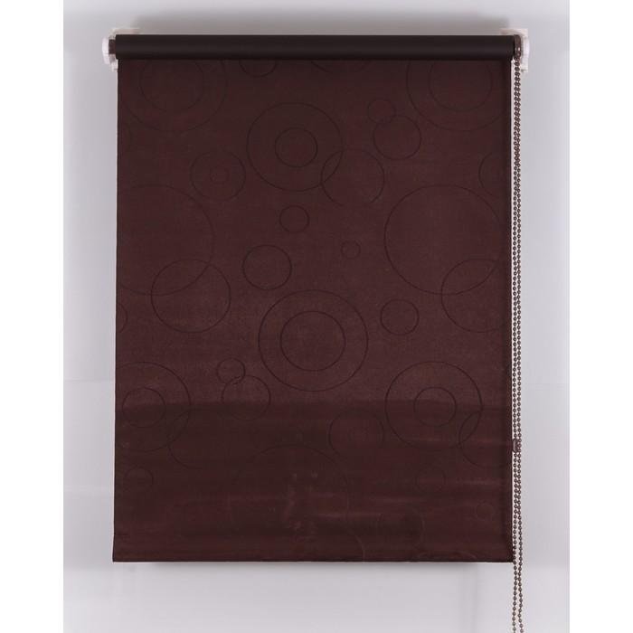 Рулонная штора Blackout 160х160 см, имитация замши «замша», цвет шоколадный
