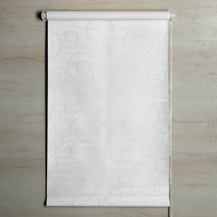"""Штора рулонная, светонепроницаемая 140х160 см """"Блэкаут. Замша"""", цвет белый"""