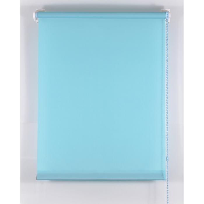 Рулонная штора «Комфортиссимо» 220х160 см, цвет голубой