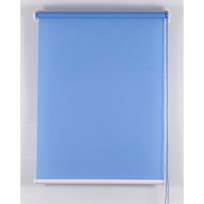 Рулонная штора «Комфортиссимо» 220х160 см, цвет синий