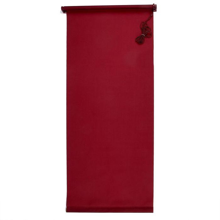"Штора-ролет 60х160 см ""Комфортиссимо"", цвет красное вино"