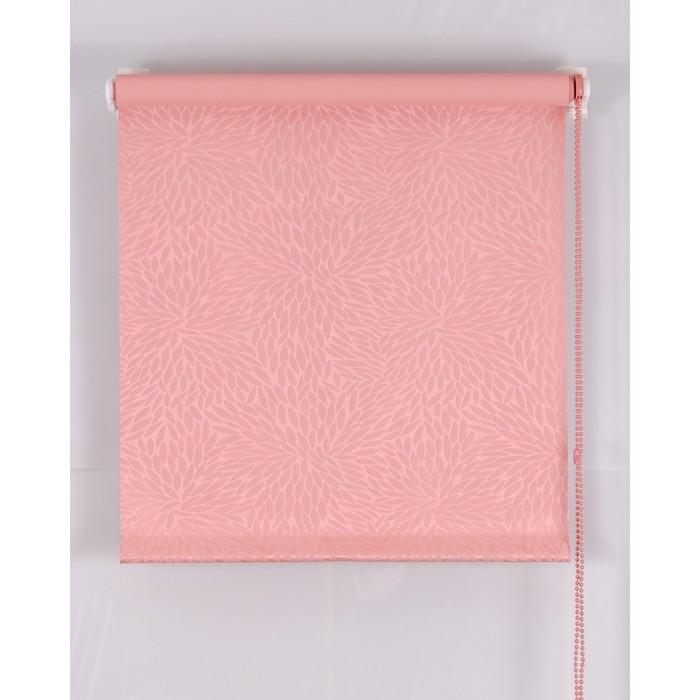 Рулонная штора Blackout 65х160 см, имитация жаккарда «подсолнух», цвет розовый