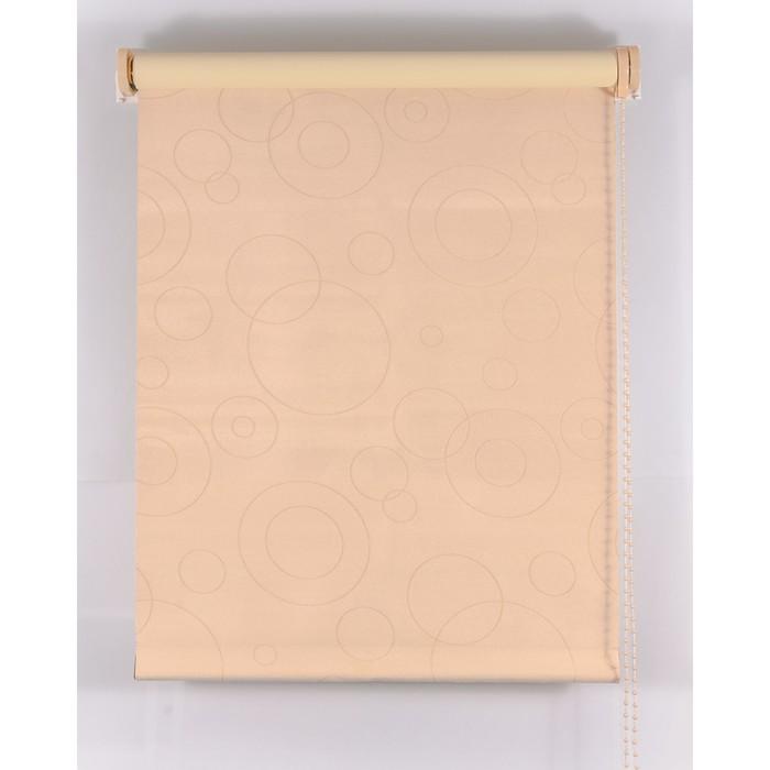 Рулонная штора Blackout 140х160 см, имитация замши «замша», цвет персик