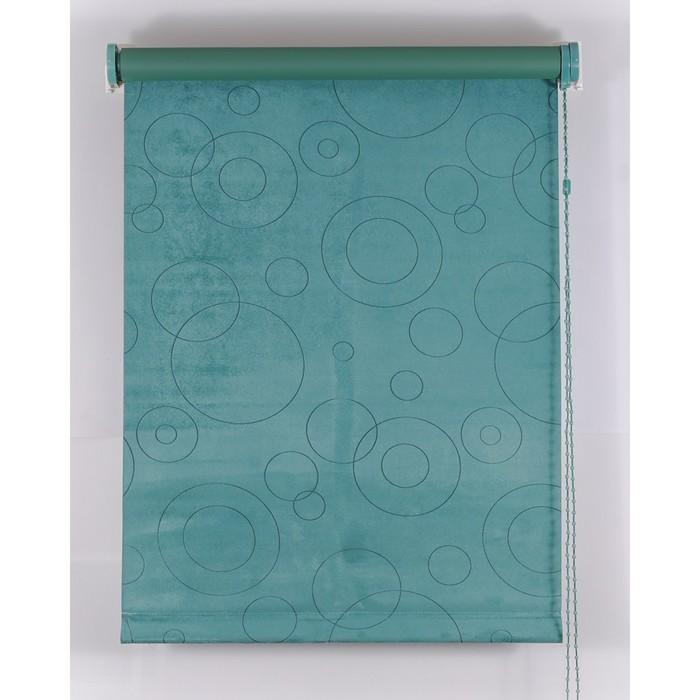 Рулонная штора Blackout 140х160 см, имитация замши «замша», цвет зеленый