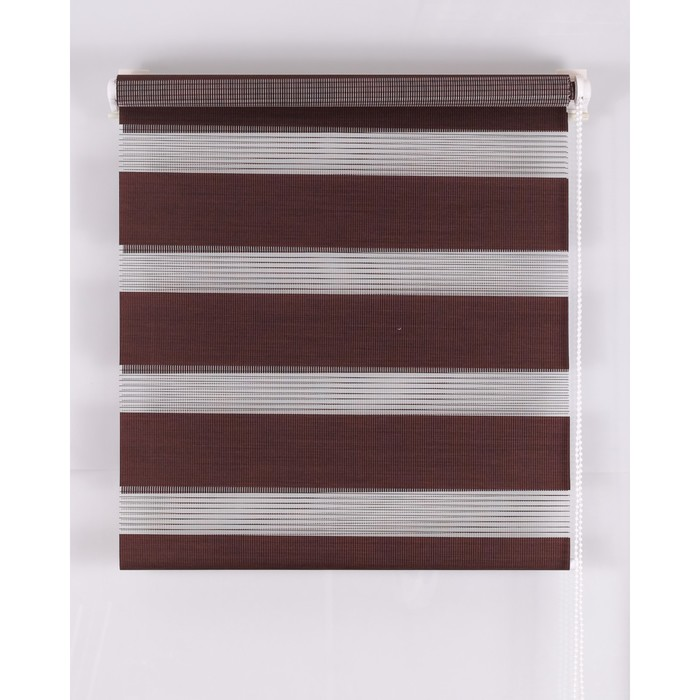 Рулонная штора «День и Ночь» 80х160 см, цвет шоколад