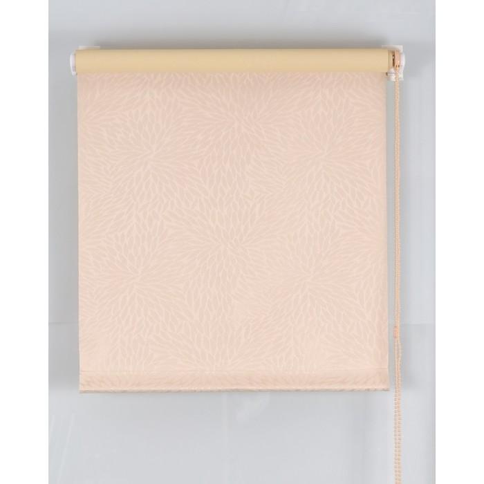 Рулонная штора Blackout 75х160 см, имитация жаккарда «подсолнух», цвет персик