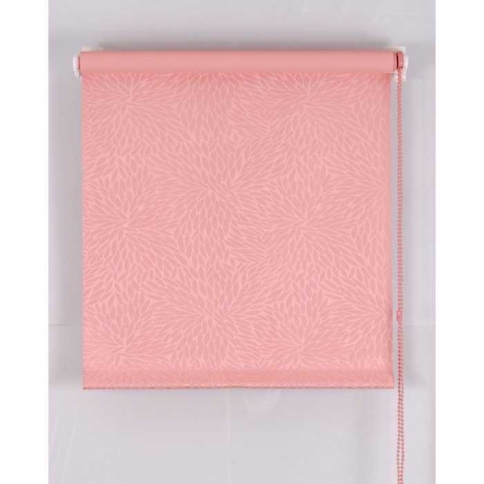 Рулонная штора Blackout 75х160 см, имитация жаккарда «подсолнух», цвет розовый