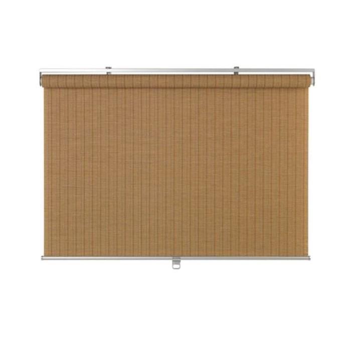 Рулонная штора БУСКТОФФЕЛЬ, размер 80х195 см, цвет светло-коричневый
