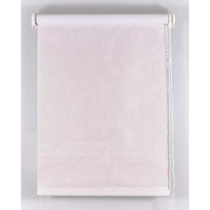 Рулонная штора Blackout 180х160 см, имитация замши «замша», цвет белый