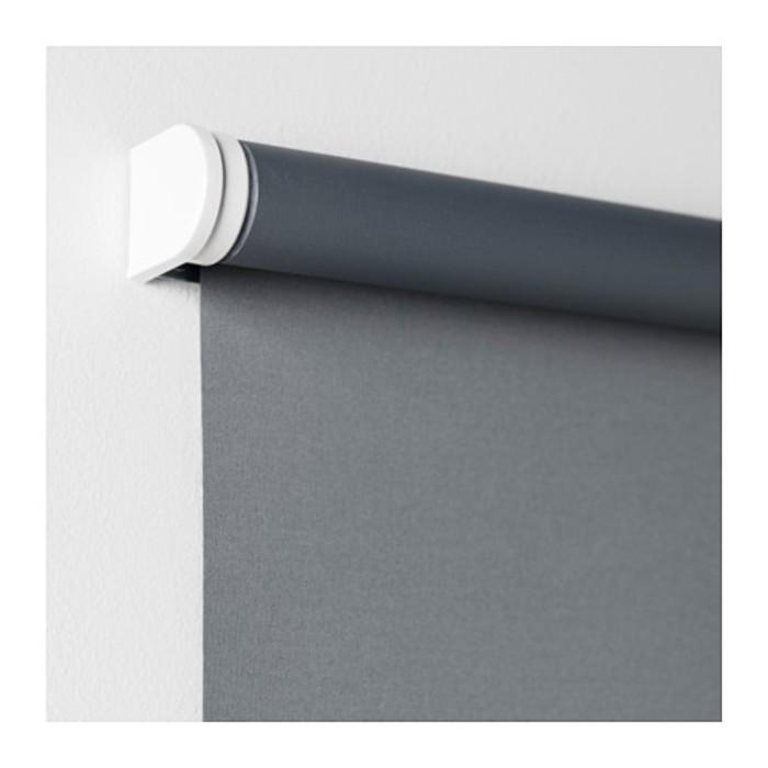 Штора рулонная ТУППЛЮР, размер 195х200 см, цвет серый