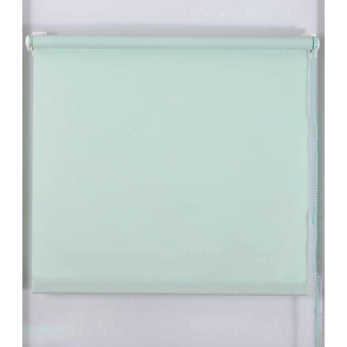 Рулонная штора «Простая MJ» 220х160 см, цвет светло-зелёный