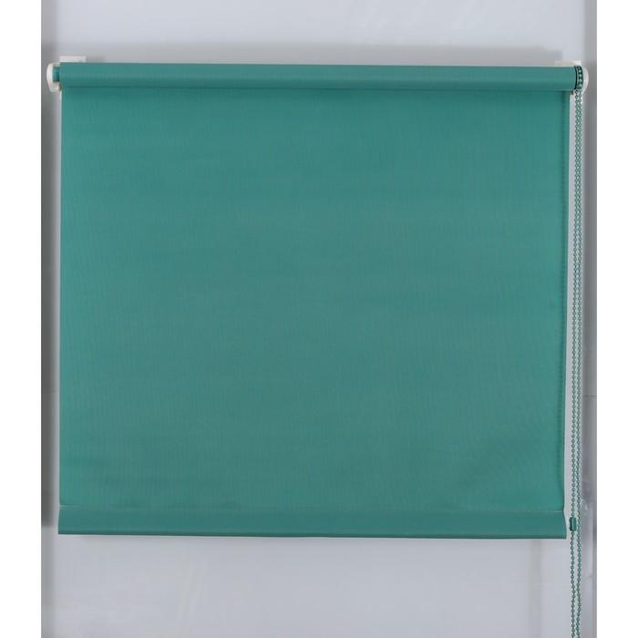 Рулонная штора «Простая MJ» 220х160 см, цвет зеленый