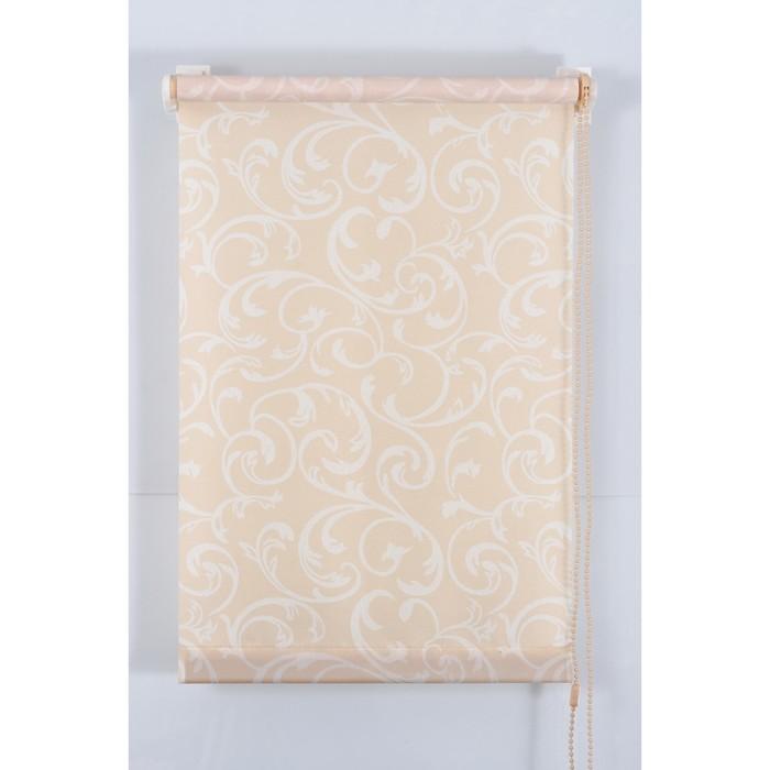 Рулонная штора «Англетер» 90х160 см, цвет персик