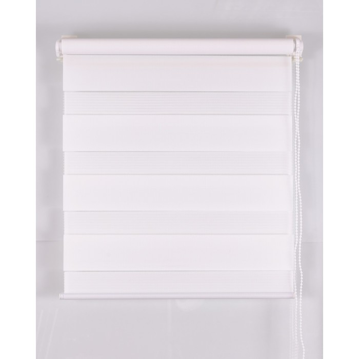 Рулонная штора «День и Ночь» 120х160 см, цвет белый