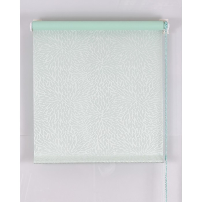 Рулонная штора Blackout 120х160 см, имитация жаккарда «подсолнух», цвет светло-зеленый