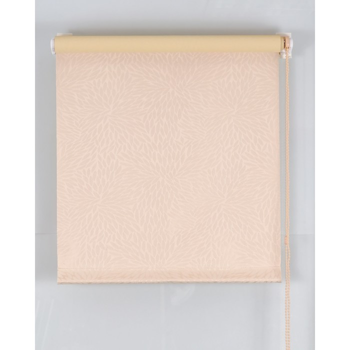 Рулонная штора Blackout 140х160 см, имитация жаккарда «подсолнух», цвет персик