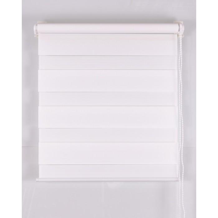 Рулонная штора «День и Ночь» 200х160 см, цвет белый