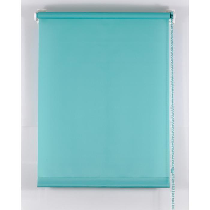 Рулонная штора «Комфортиссимо» 70х160 см, цвет морская волна