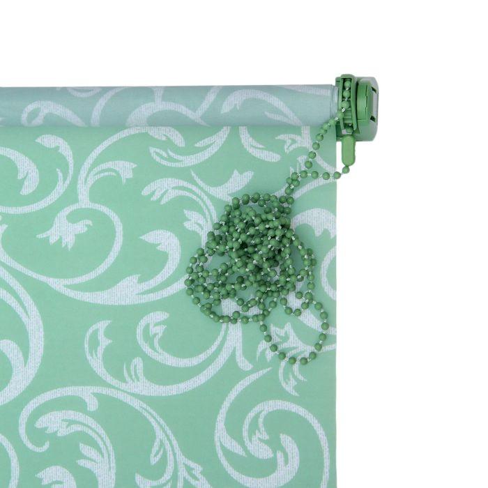 """Штора-ролет 45x160 см """"Аглетер"""", цвет зеленый"""