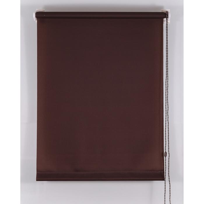 Рулонная штора «Комфортиссимо» 75х160 см, цвет шоколадный