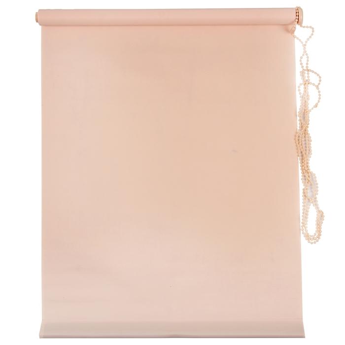 Штора рулонная MJ 60х160 см, цвет персик