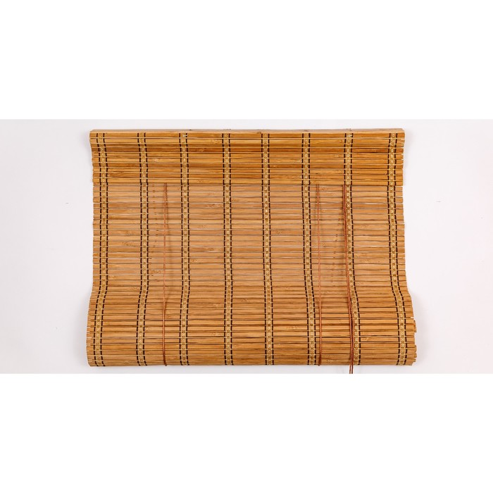 Бамбуковая рулонная штора 90х220 см, цвет 8001