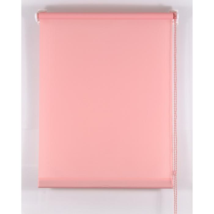 Рулонная штора «Комфортиссимо» 90х160 см, цвет розовый