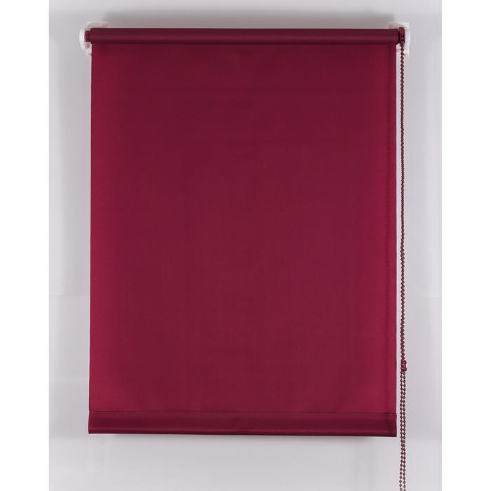 Рулонная штора «Комфортиссимо» 90х160 см, цвет красное вино