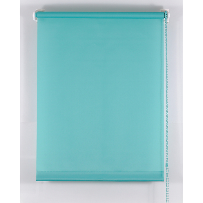 Рулонная штора «Комфортиссимо» 100х160 см, цвет морская волна