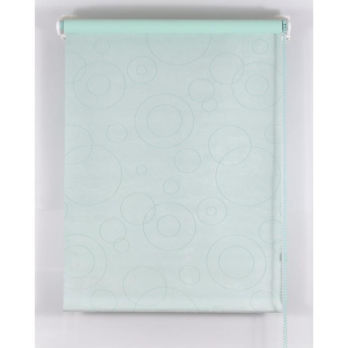 Рулонная штора Blackout 75х160 см, имитация замши «замша», цвет светло-зеленый