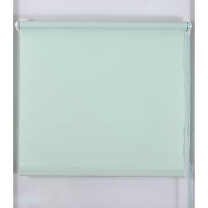 Рулонная штора «Простая MJ» 80х160 см, цвет светло-зелёный